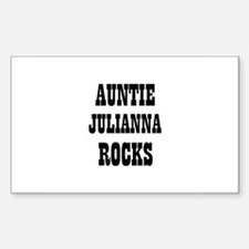AUNTIE JULIANNA ROCKS Rectangle Decal