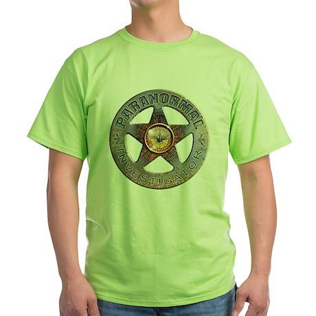 Paranormal Investigator Green T-Shirt