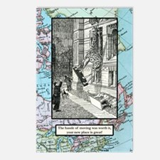 Hassle of moving Postcards (Package of 8)