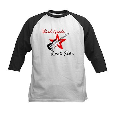 Third Grade Rock Star Kids Baseball Jersey