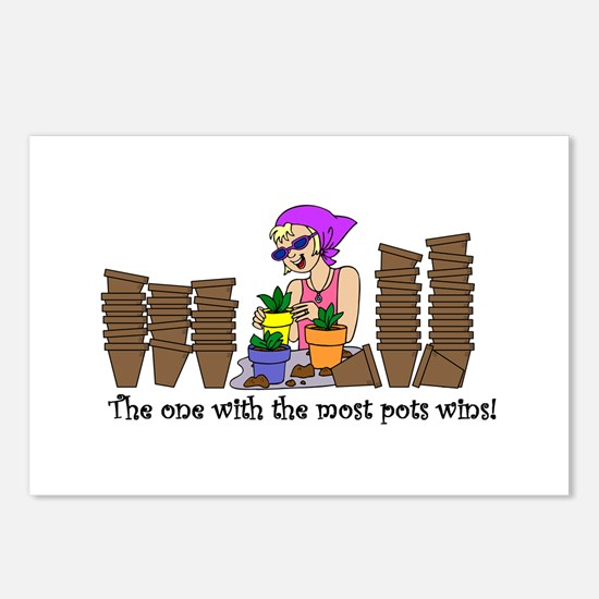 One With Most Pots Wins! Postcards (Package of 8)