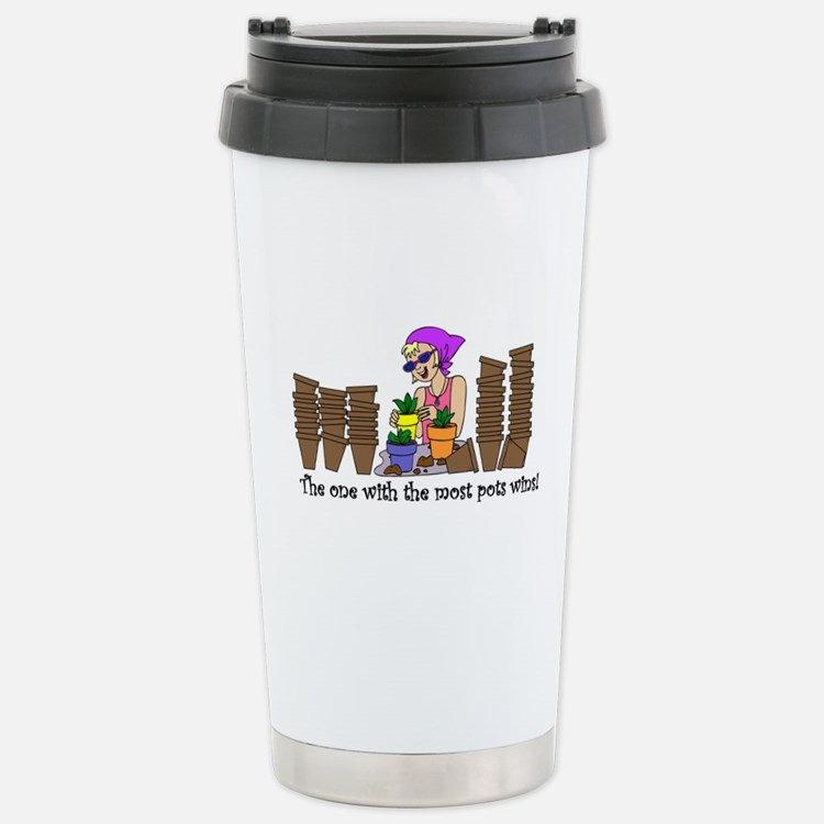 One With Most Pots Wins! Travel Mug
