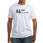 As like as chalk and cheese Fitted T-Shirt