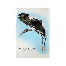 Wood Stork Rectangle Magnet