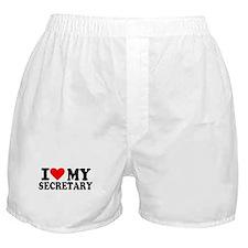 I love my secretary Boxer Shorts