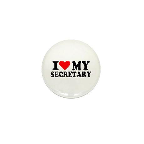 I love my secretary Mini Button (10 pack)