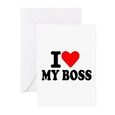 I love my boss Greeting Cards (Pk of 10)