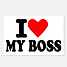 I love my boss Postcards (Package of 8)