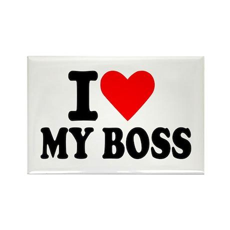I love my boss Rectangle Magnet (100 pack)