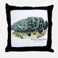 Giant Grouper Throw Pillow