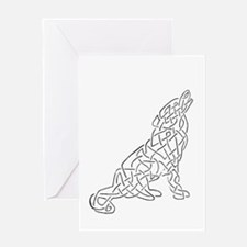 knotwork wolf Greeting Card