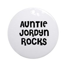 AUNTIE JORDYN ROCKS Ornament (Round)
