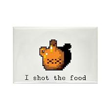 I shot the food Rectangle Magnet