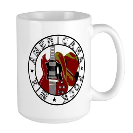 Guitar/Cowboy Hat Large Mug