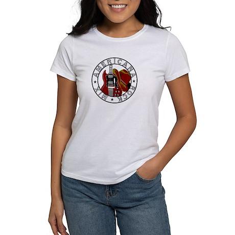 Guitar/Cowboy Hat Logo Women's T-Shirt
