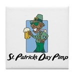 St. Patrick's Day Pimp Tile Coaster
