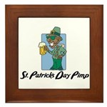 St. Patrick's Day Pimp Framed Tile