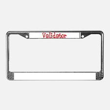 Validator License Plate Frame