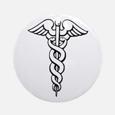 Caduceus Ornament (Round)
