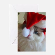 Ragdoll Cat Christmas Greeting Card