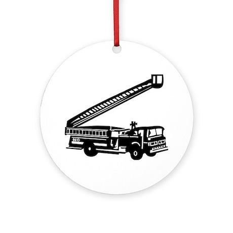 Fire Engine Ornament (Round)
