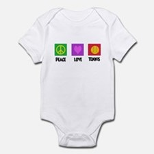 PEACE LOVE TENNIS Infant Bodysuit