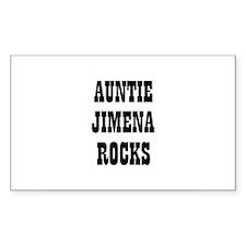 AUNTIE JIMENA ROCKS Rectangle Decal