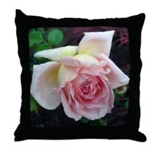 Birdlike Rose Throw Pillow
