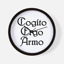 Cogito Ergo Armo Wall Clock