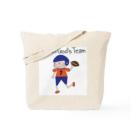 God's Team Football Tote Bag