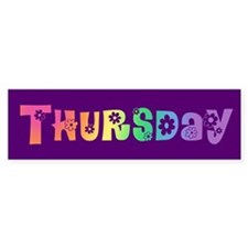 Cute Thursday Bumper Bumper Sticker