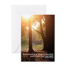Psalms 119:105 Greeting Card