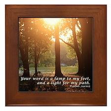 Psalms 119:105 Framed Tile