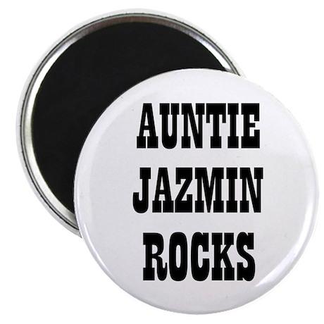 "AUNTIE JAZMIN ROCKS 2.25"" Magnet (10 pack)"