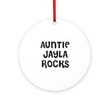 AUNTIE JAYLA ROCKS Ornament (Round)