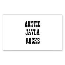 AUNTIE JAYLA ROCKS Rectangle Decal