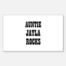 AUNTIE JAYLA ROCKS Rectangle Decal