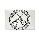Crossed Guitars Logo Rectangle Magnet