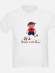 Kicken' It with Jesus Soccar T-Shirt