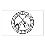 Crossed Guitars Stickers (Rectangle 50 pk)
