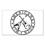 Crossed Guitars Stickers (Rectangle 10 pk)