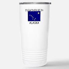 Cute Alaska map Travel Mug