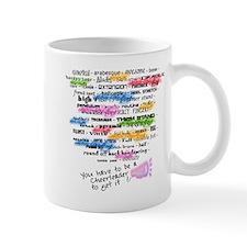 Cheerleading Words Mug