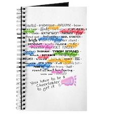 Cheerleading Words Journal