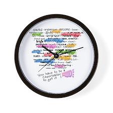 Cheerleading Words Wall Clock