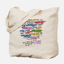 Cheerleading Words Tote Bag