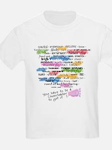 Cheerleading Words T-Shirt