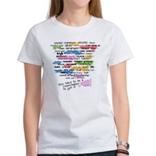 Cheerleading Words Tee