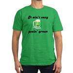 It Ain't Easy Peein' Green Men's Fitted T-Shirt (d