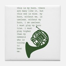 Cute Mellophone Tile Coaster